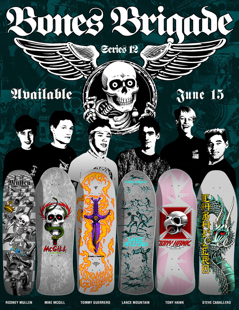 **Pre-Order** Powell Peralta Bones Brigade 12th Series Old School Reissue Deck ENTIRE SET OF 6