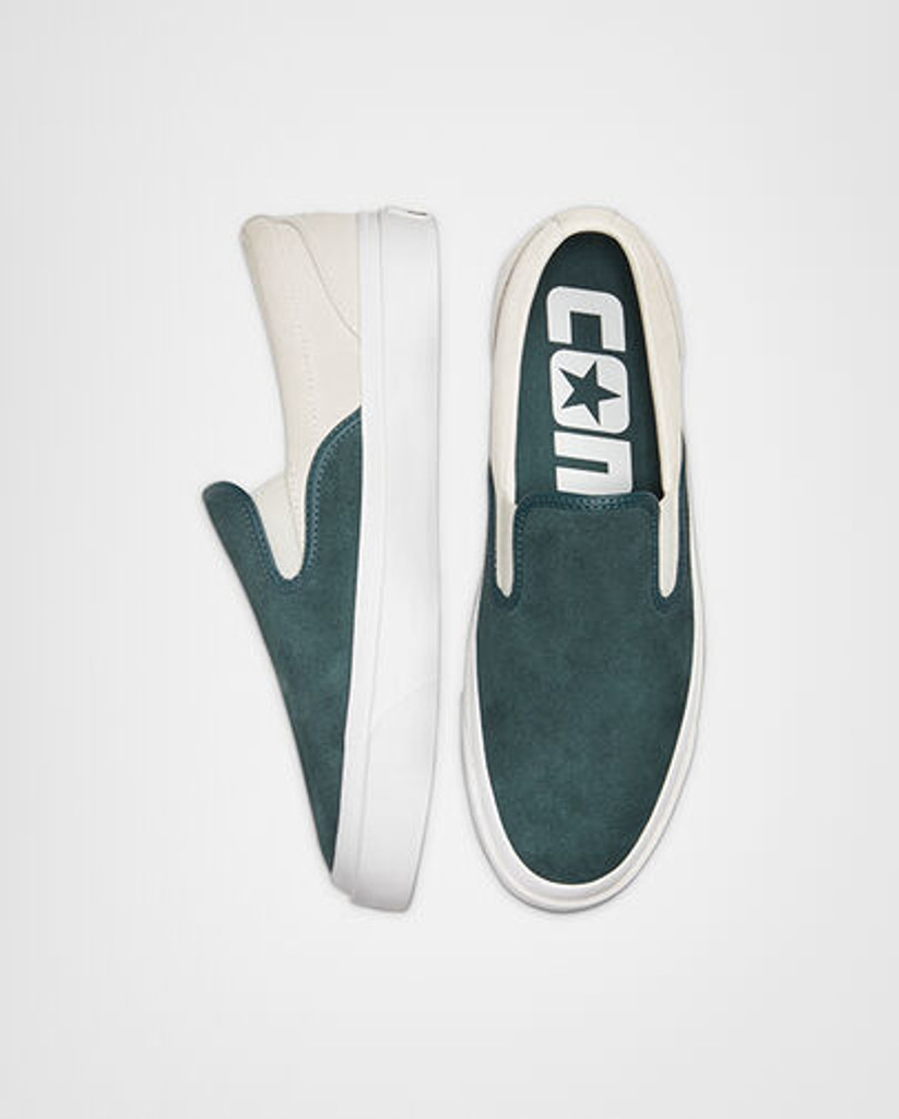 Converse CONS One Star CC Pro Suede Slip (Faded Spruce/Egret) FREE SHIPPING