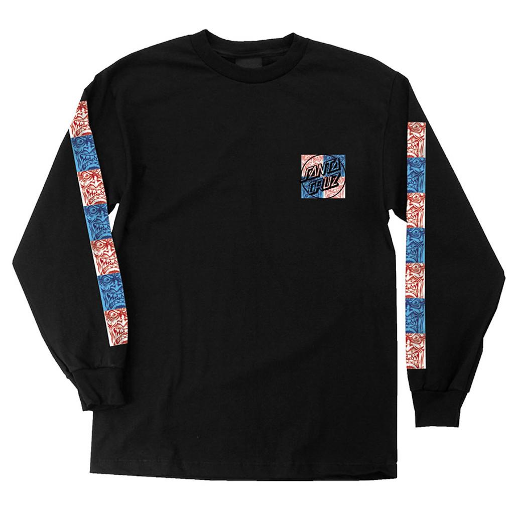 Santa Cruz Rob Face Tile Long Sleeve Shirt (Black)