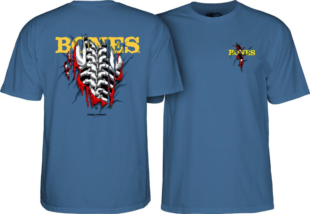 Powell Peralta Bones Shred T-Shirt (Slate Blue)