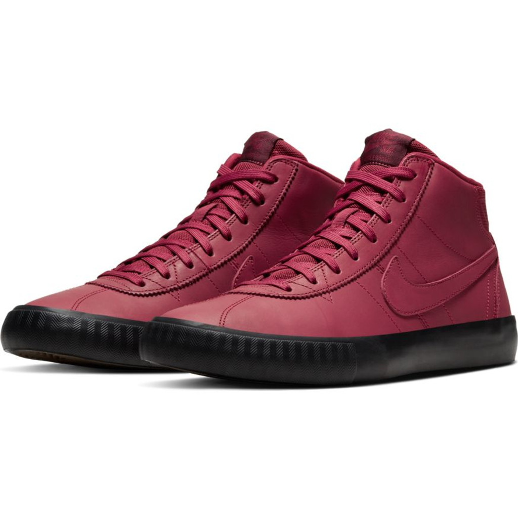 Nike SB Bruin HI Shoes (TEAM RED/NIGHT MAROON-BLACK) FREE USA SHIPPING