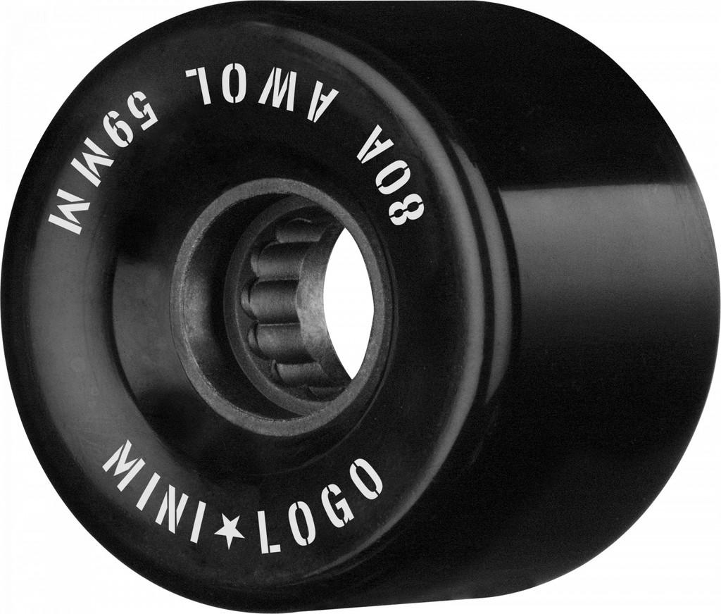 Mini Logo AWOL Wheels 59mm/80a Black (Set of 4)