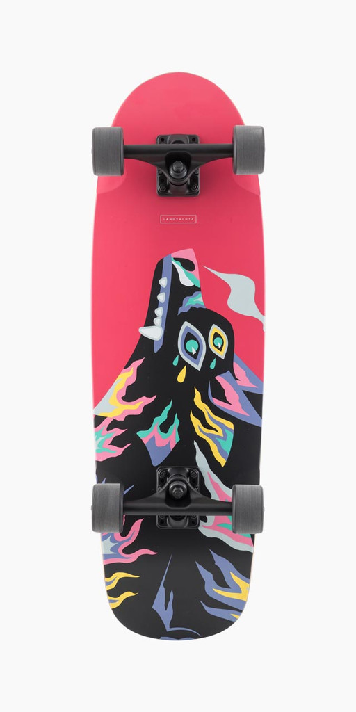 Landyachtz Tugboat Wolf Complete Skateboard FREE USA SHIPPING