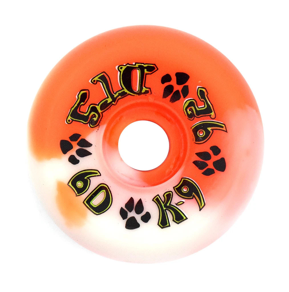 Dogtown K-9 80's Wheels 60mm x 92a - Orange White Swirl (Set of 4)