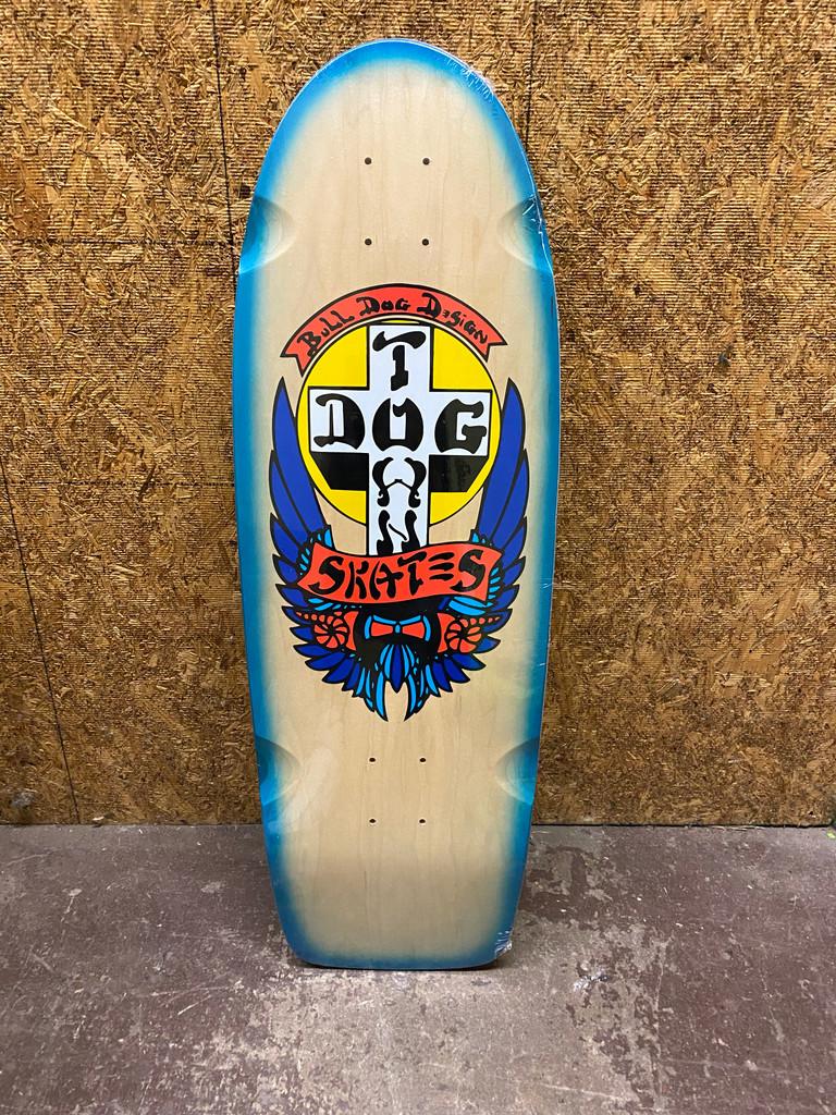 "Dogtown OG Classic Bull Dog Reissue Deck 10"" X 30"" (Blue Fade)"