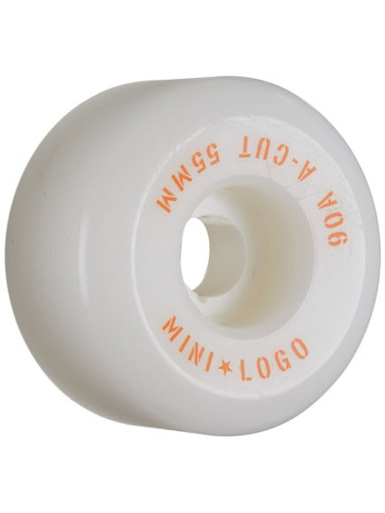 Mini Logo Skateboard Wheels Hybrid A-Cut 55mm 90A White 4pk