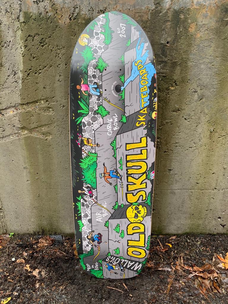 """Old Skull Skateboards """"Wallows"""" Old School Shape Deck"""