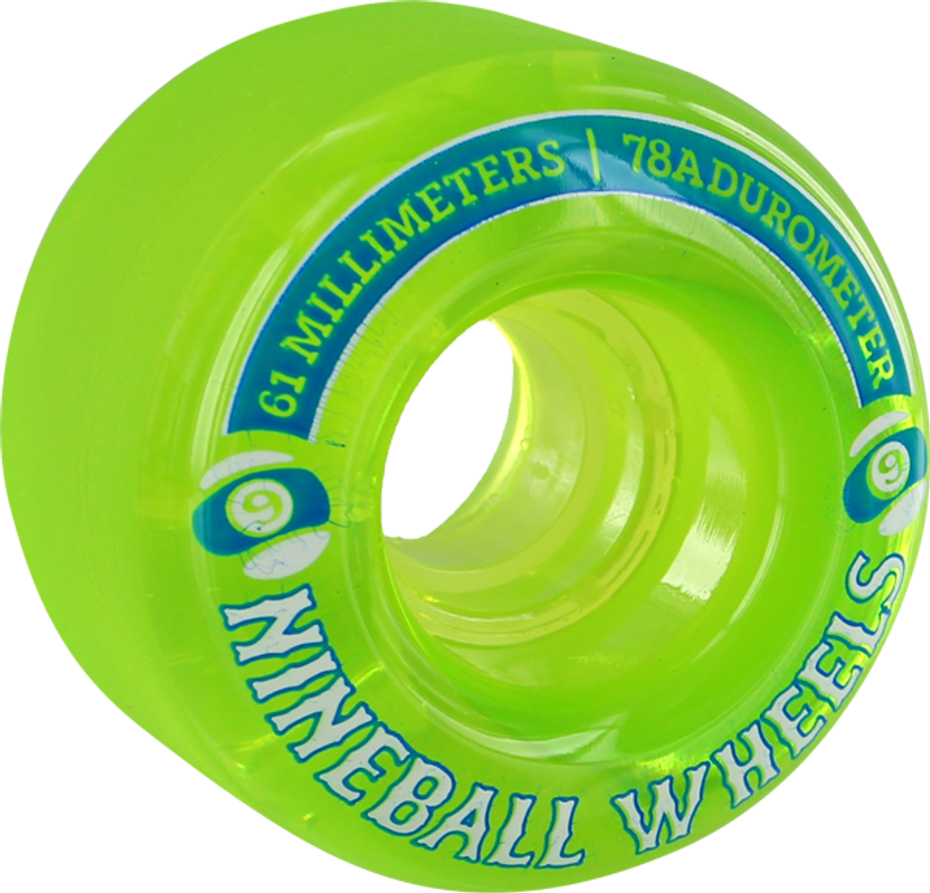 Sector 9 Nineball Wheels 61mm/78a Clear Lime (Set of 4)