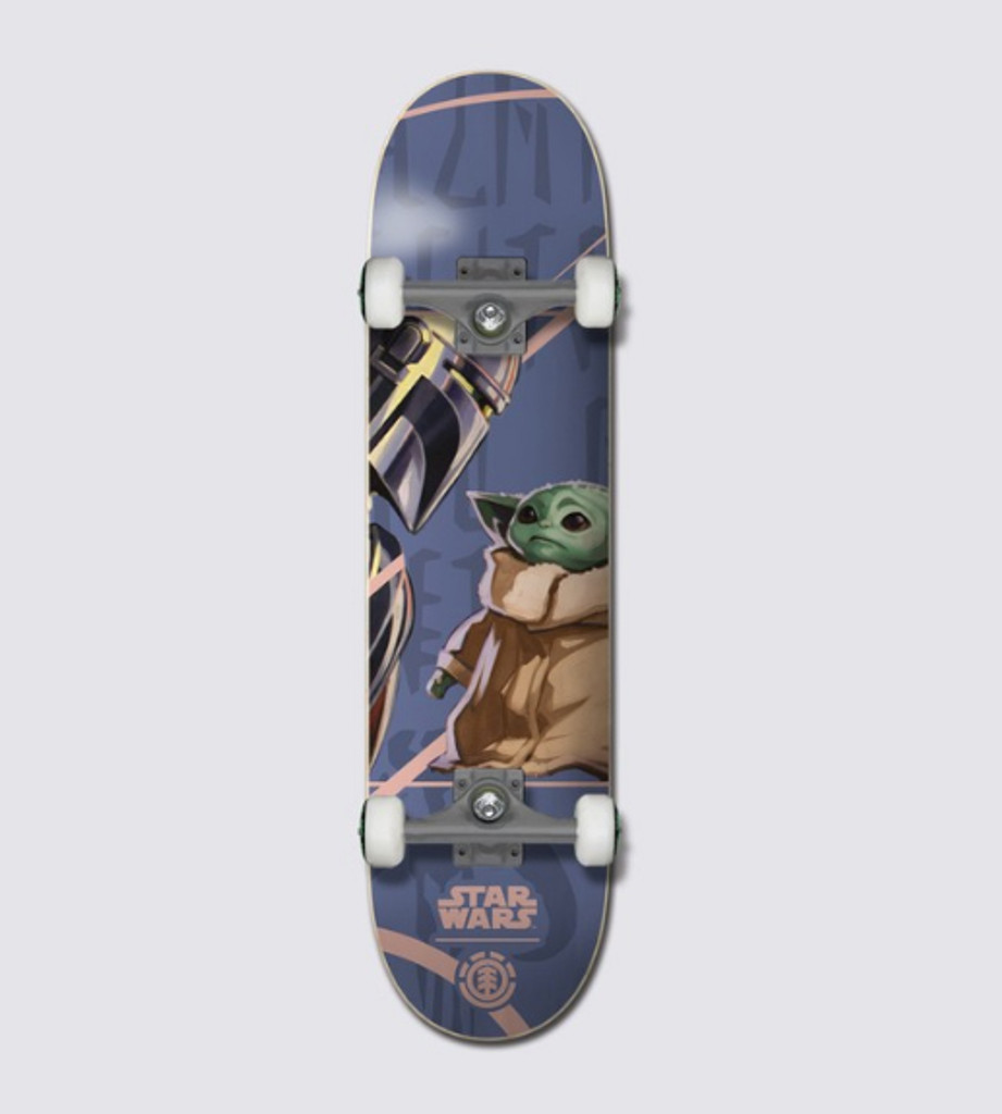 "Element x Star Wars™ Mando Child Skateboard Complete 8.0"" FREE USA SHIPPING"