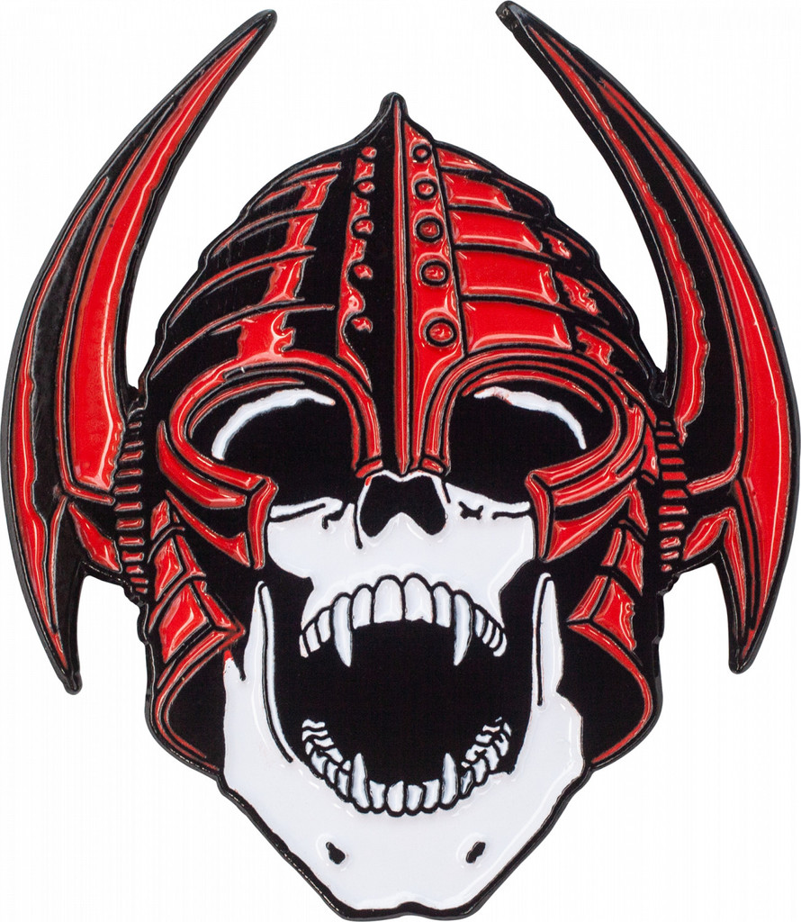 Powell Peralta Per Welinder Nordic Skull Lapel Pin (Red)