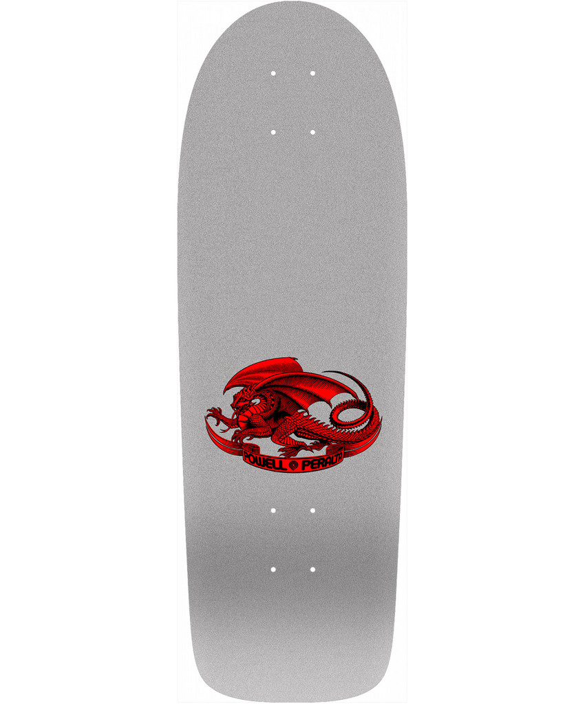 Powell Peralta Old School OG Rodriguez Skull & Sword Re-Issue Deck (Silver)
