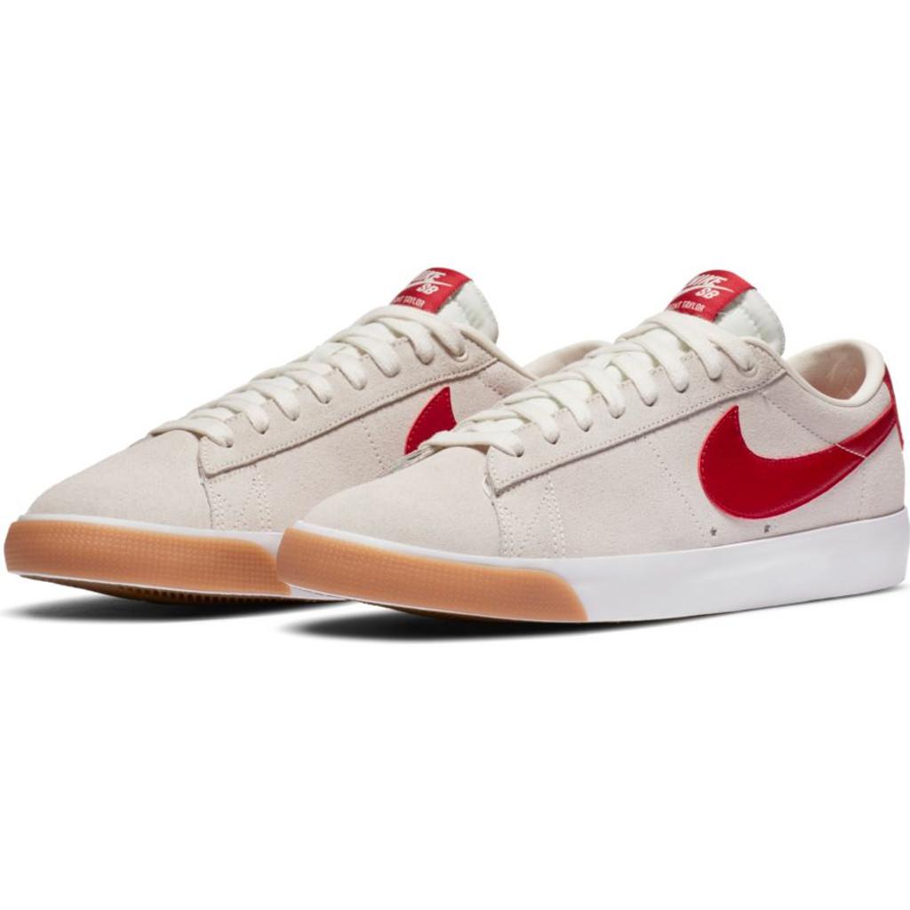 Nike SB Blazer Low GT Shoes (Sail/Cardinal) FREE USA SHIPPING