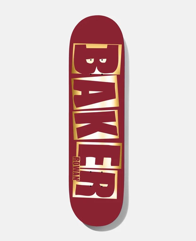 """Baker Rowan Brand Name Red/Foil B2 Skateboard Deck 8.38"""""""