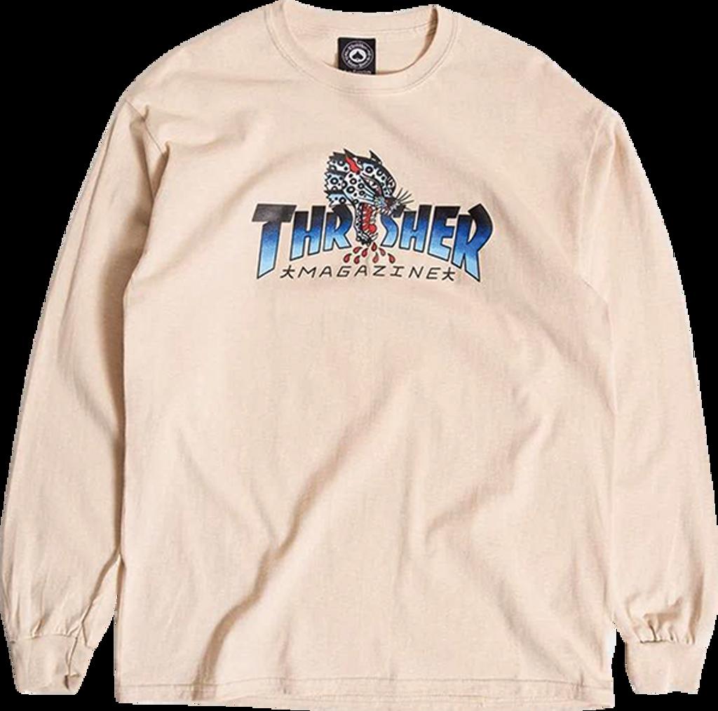 Thrasher Leopard Long Sleeve Shirt (Sand)