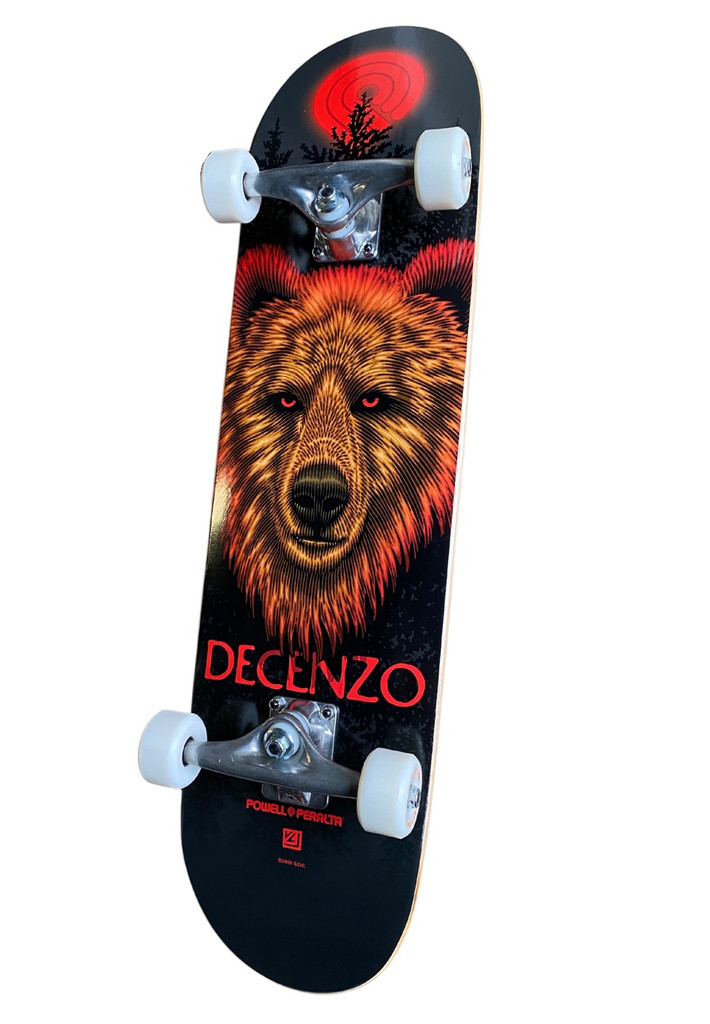 "Powell Peralta Decenzo Bear Complete Skateboard 8.0"" FREE USA SHIPPING"