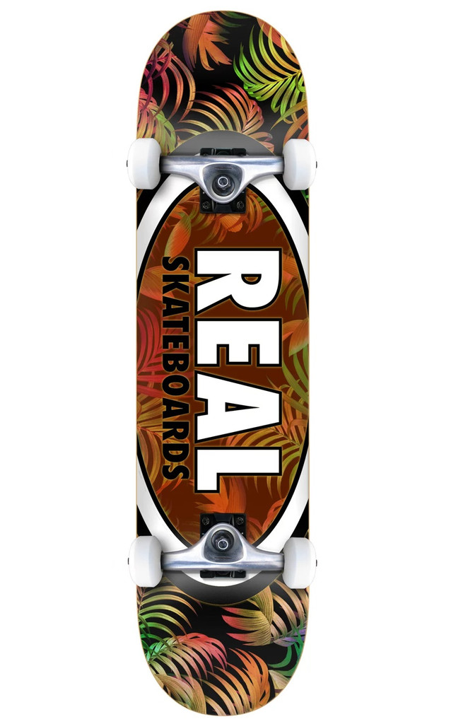 """Real Team Tropic Oval Complete Skateboard 7.75"""" FREE USA SHIPPING"""