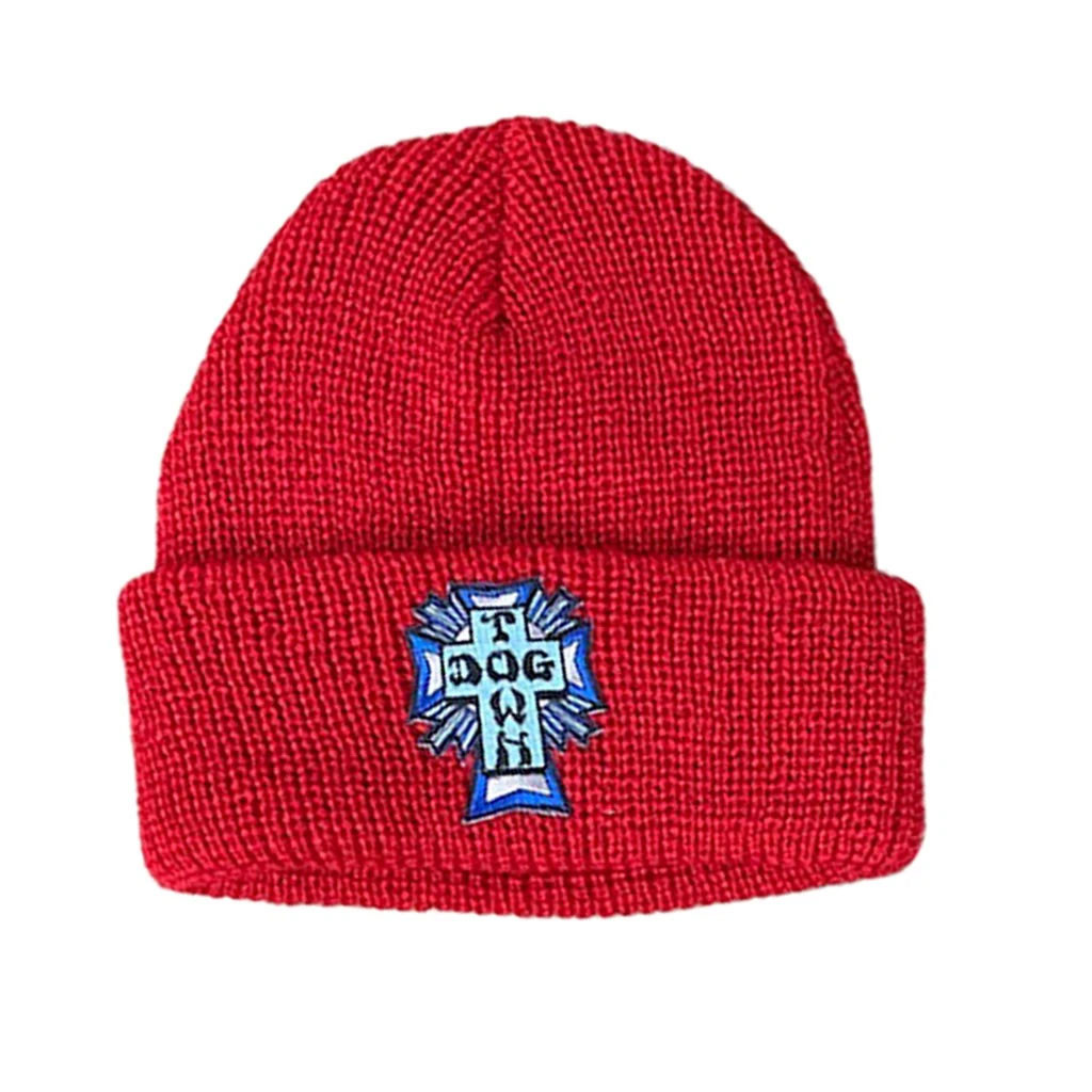 Dogtown Blue Cross Patch Beanie (Red)