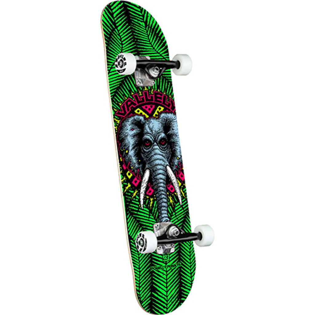 """Powell Peralta Vallely Elephant Complete Skateboard 8.0"""" X 31.45"""" (Green)"""