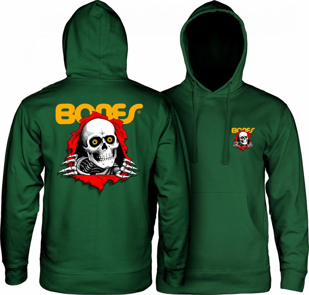 Powell Peralta Ripper Hooded Sweatshirt (Alpine Green)