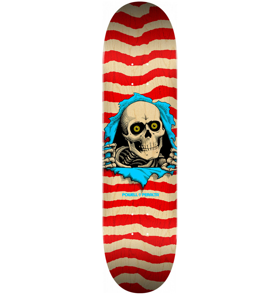 """Powell Peralta Ripper Deck Natural Red 8.5"""" x 32.08"""""""