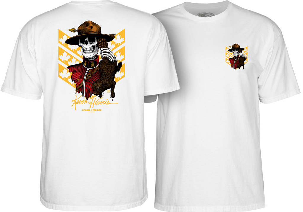 Powell Peralta Kevin Harris Mountie T-Shirt (Available in 3 Colors)