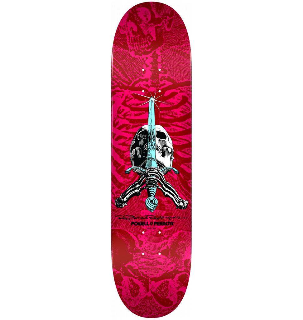 "Powell Peralta Skull & Sword Deck 8.5"" x 32.08"" (Red/Pink)"