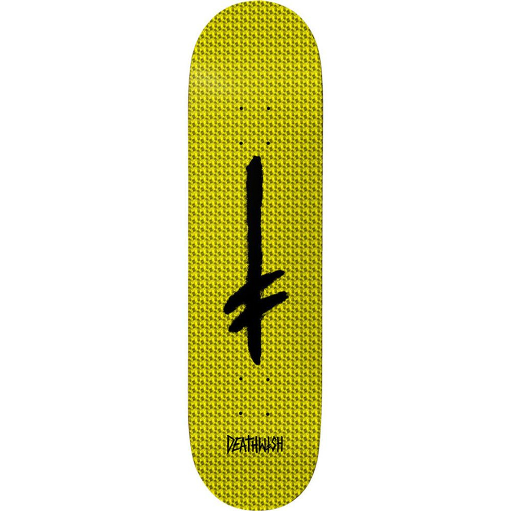 Deathwish Credo Yellow Holographic Foil Deck 8.25""