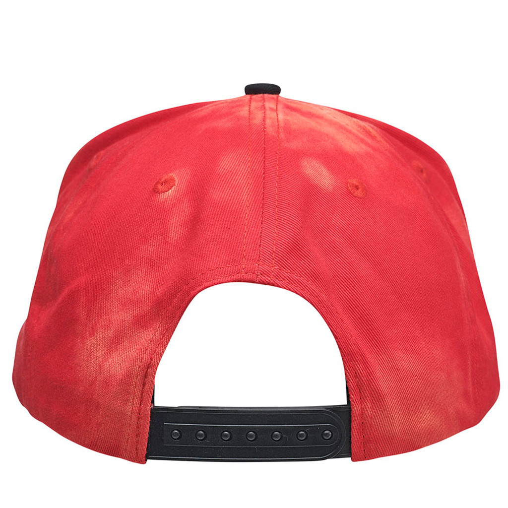 Santa Cruz Classic Dot Snapback Mid Profile Hat (Red Bleach Out)