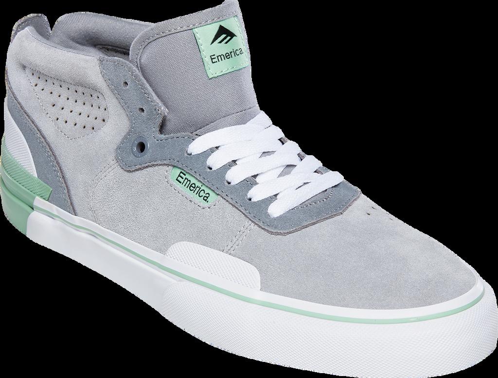 Emerica PILLAR Shoes (Grey/White/Green) FREE USA SHIPPING