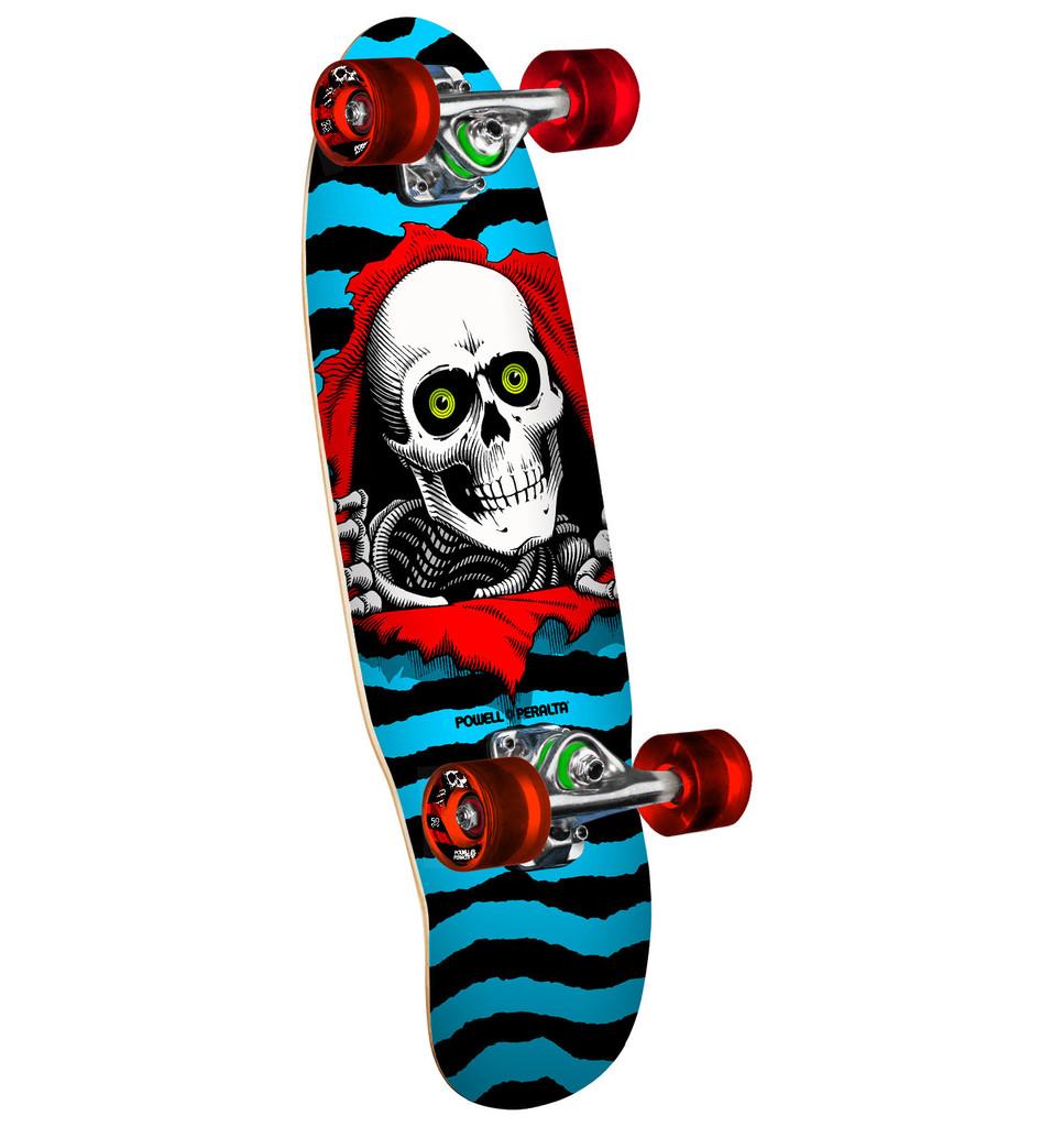 "Powell Peralta Micro Ripper Cruiser Skateboard 7.5"" X 24"" (Blue)"