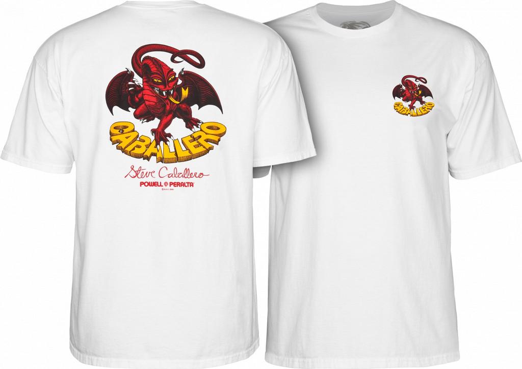 Powell Peralta Steve Caballero Dragon II T-Shirt (White)