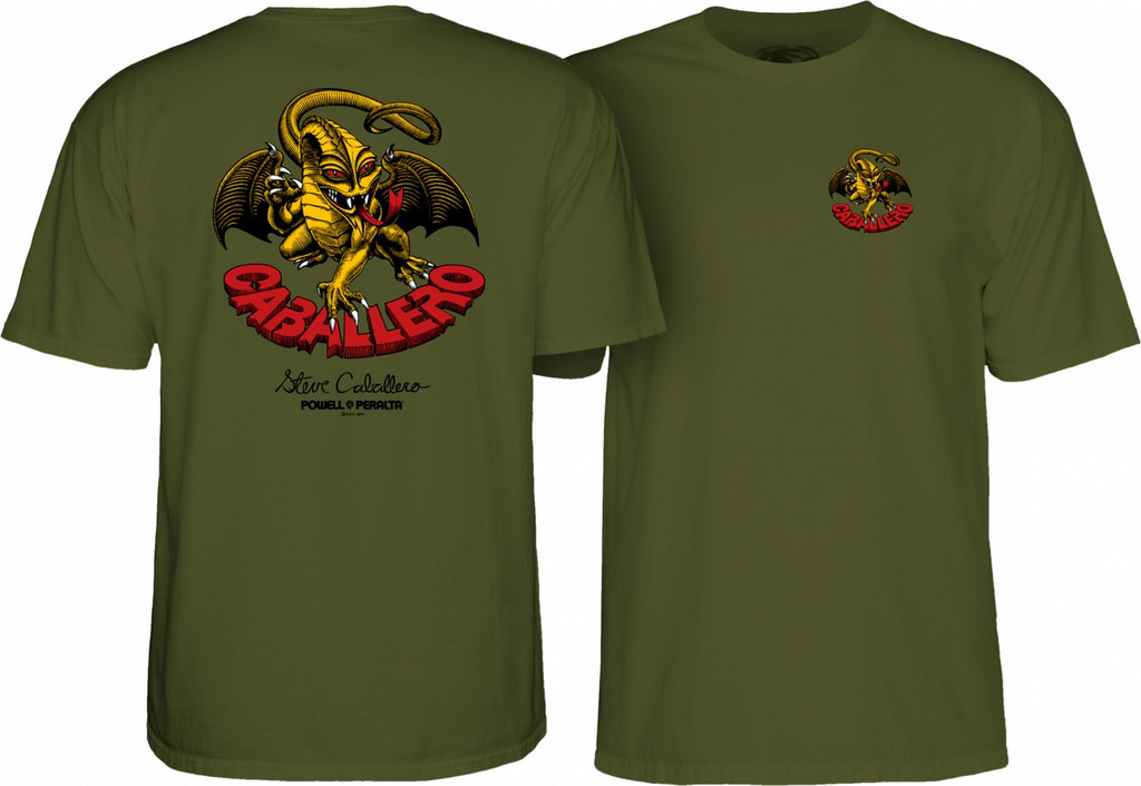 Powell Peralta Steve Caballero Dragon II T-Shirt (Military Green)