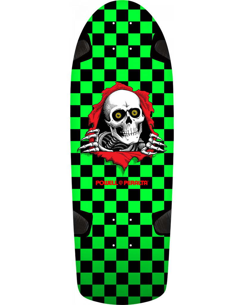 **Pre-Order** Powell Peralta Old School OG Ripper Re-Issue Deck Checker (Green)