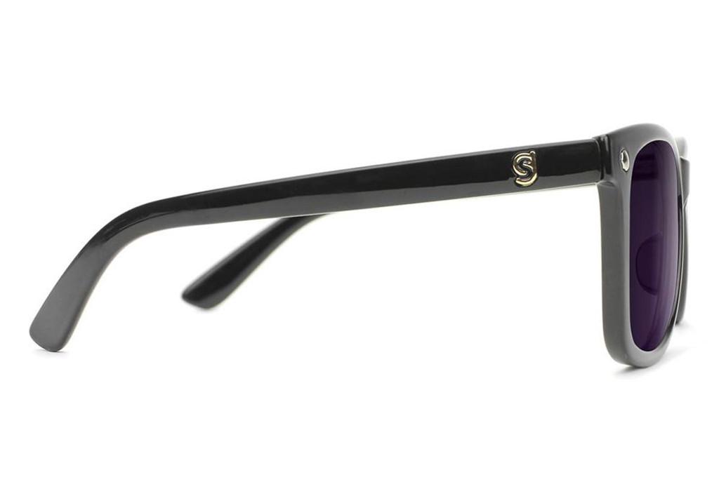 Glassy Mike Mo Polarized Sunglasses (Matte Black/Purple)