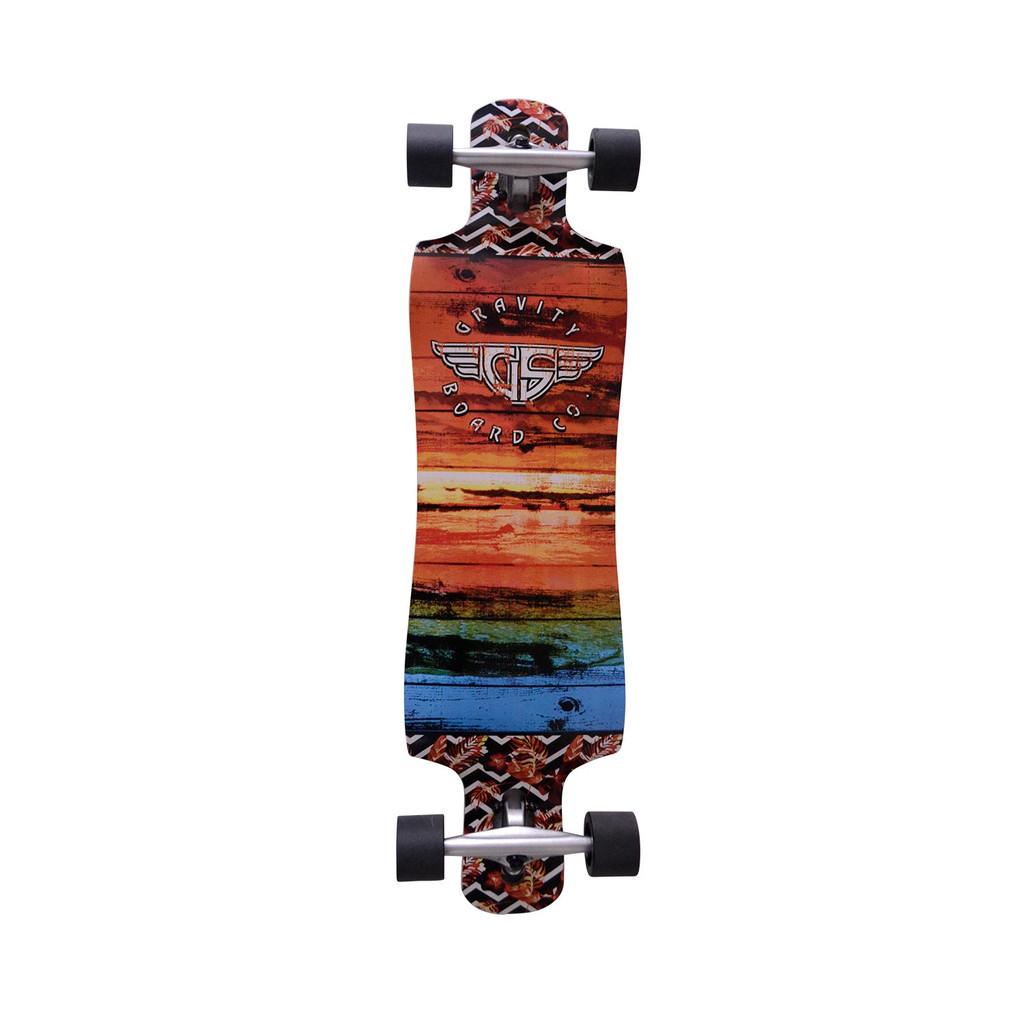 "Gravity Pop Grunge Complete Longboard 10"" X 38"" FREE USA SHIPPING"