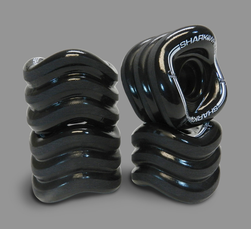 Shark Mako 70mm 78a Wheels Black (Set of 4)