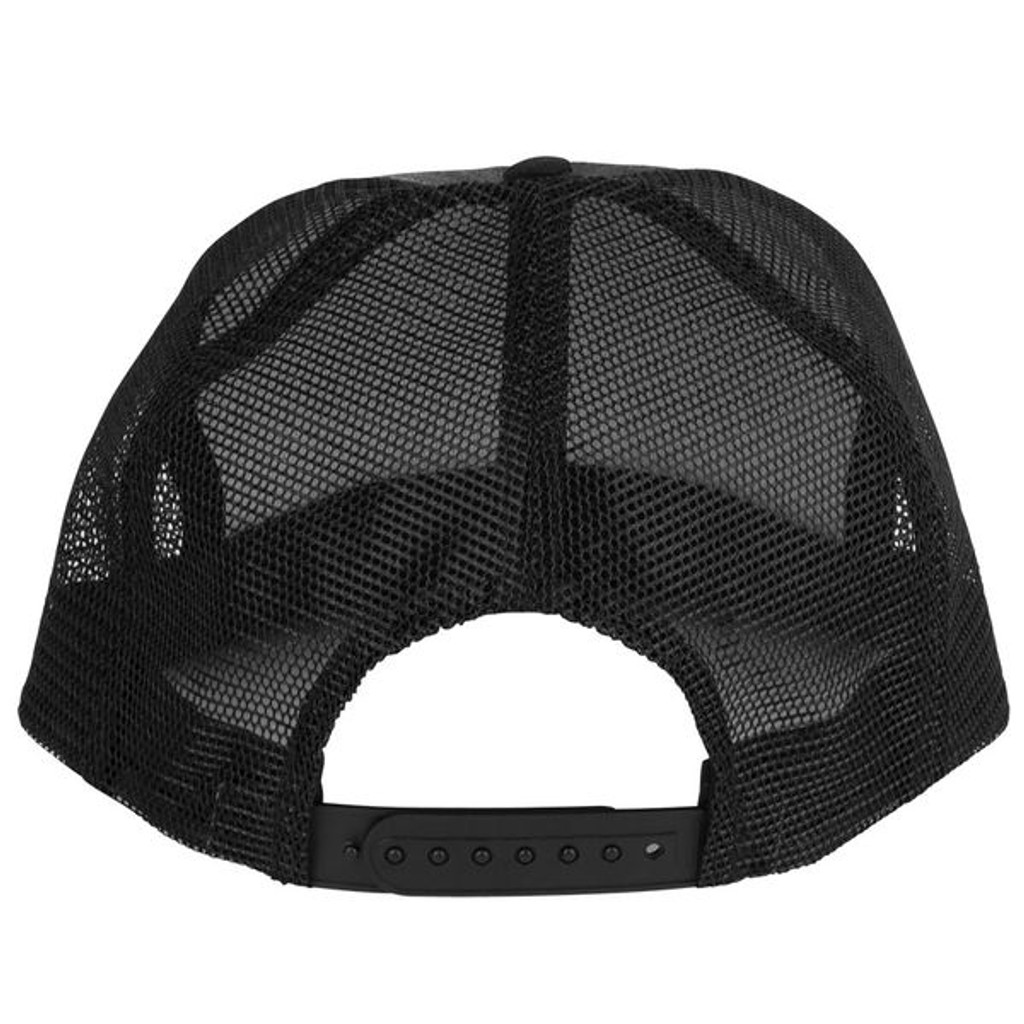 Santa Cruz Classic Dot Black Mesh Trucker Hat