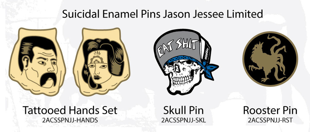 Suicidal Skates X Jason Jessee Enamel Pins
