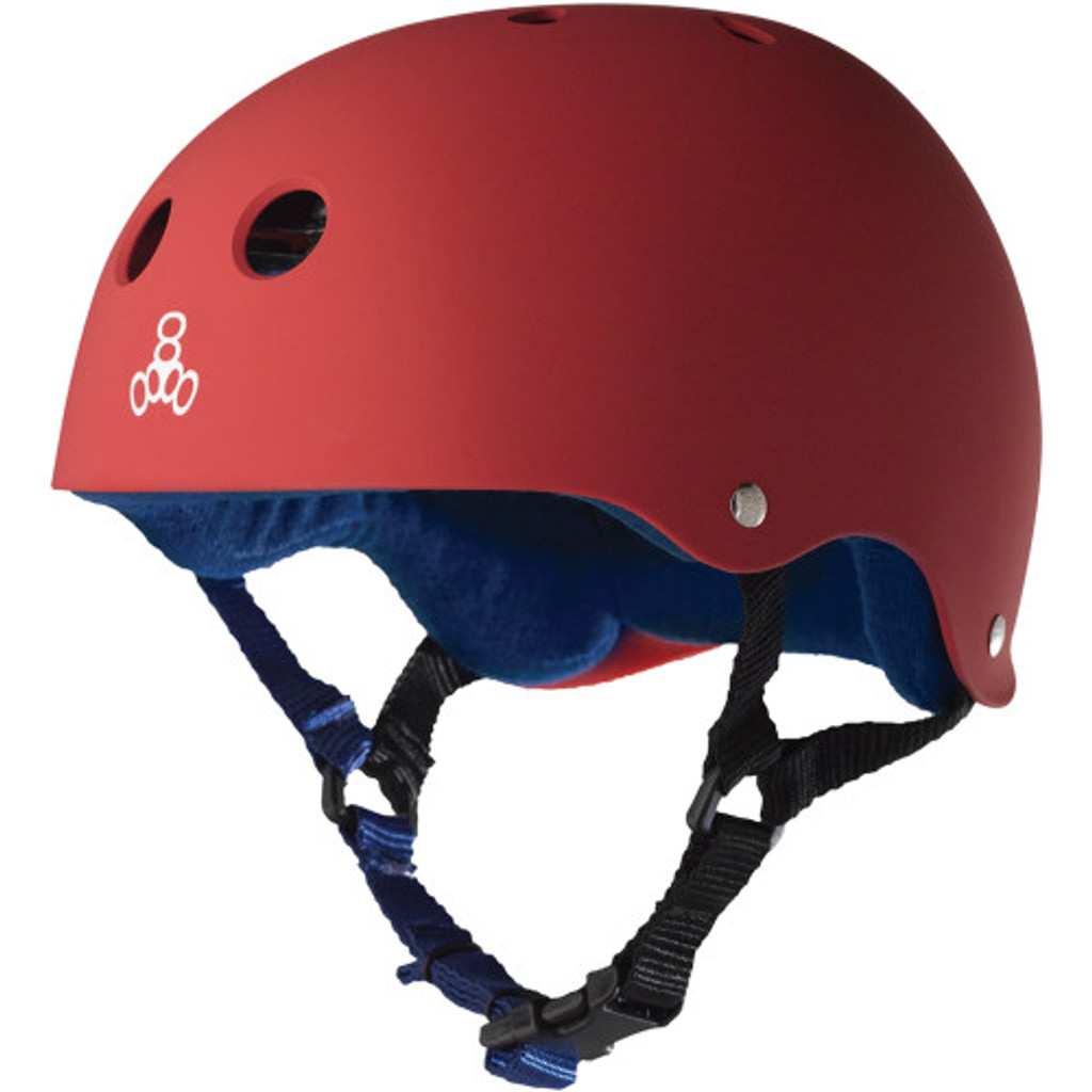 Triple Eight Brainsaver Rubber Helmet United Red