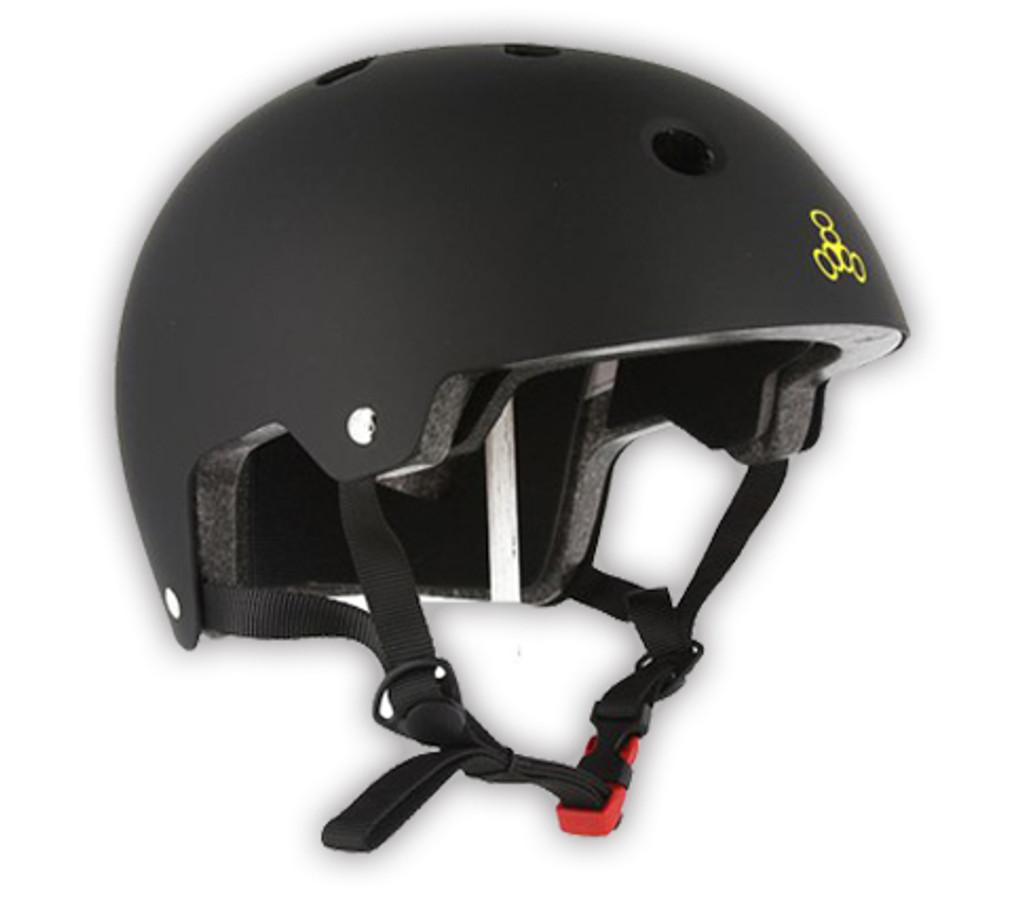 Triple Eight Brainsaver Rubber Helmet All Black