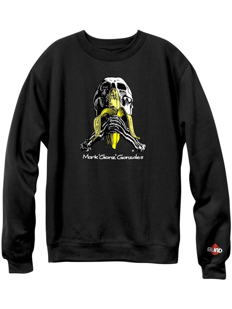 Blind Heritage Mark Gonzales Skull & Banana Crew Sweatshirt