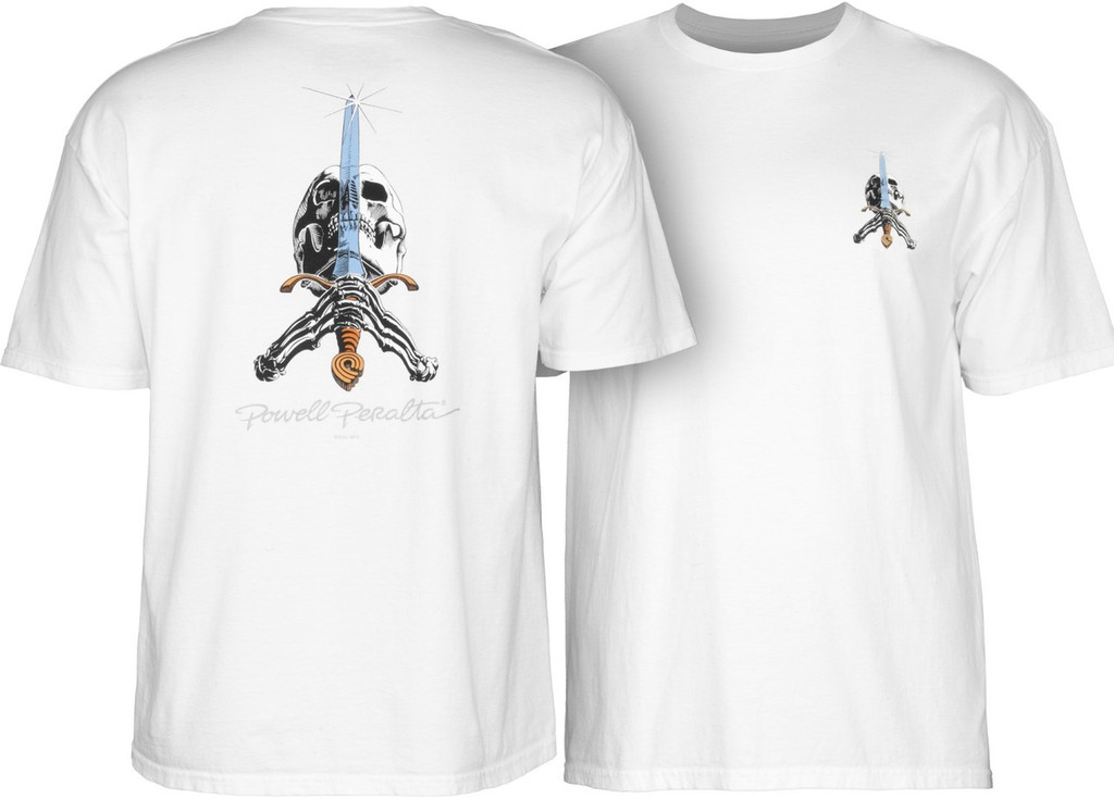 Powell Peralta Old School Skull & Sword T-Shirt (Available in 5 Colors)