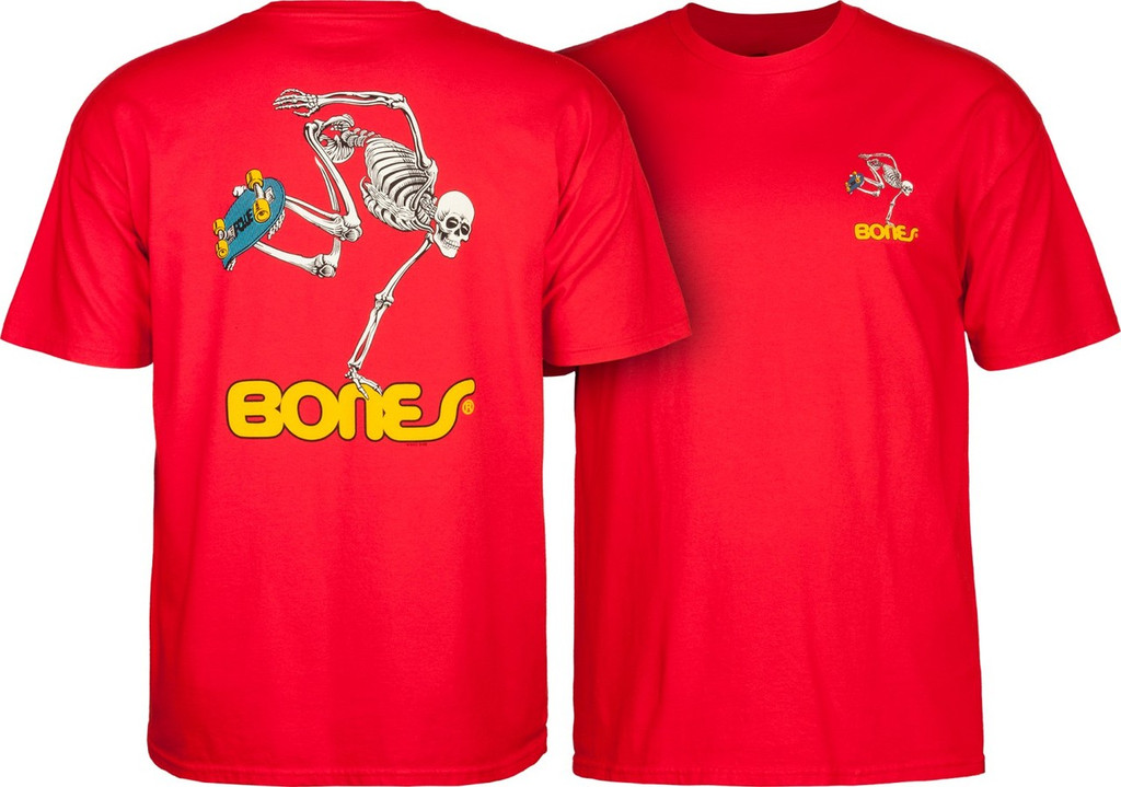 Powell Peralta Old School Skate Skeleton T-Shirt (Available in 5 Colors)