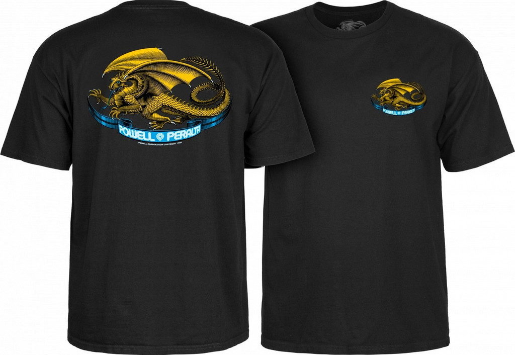 Powell Peralta Old School Oval Dragon T-Shirt (Available in 4 Colors)