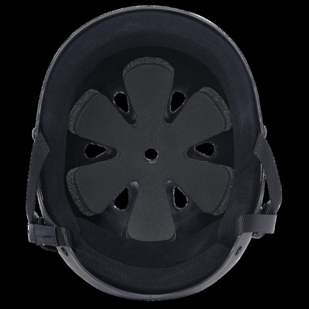 PRO-TEC CLASSIC RUBBER BLACK HELMET