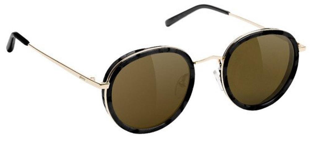 Glassy Lincoln Black & Brown Sunglasses