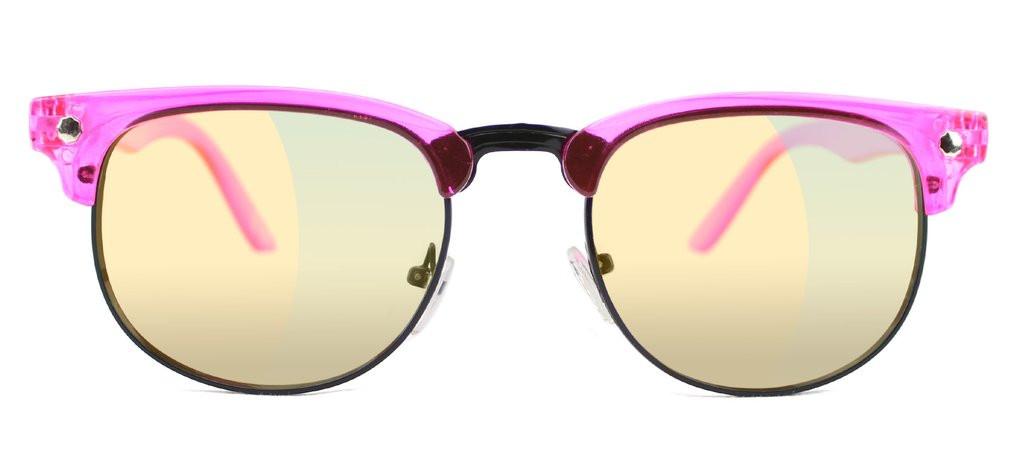Glassy Morrison Cancer Hater Pink Pink Mirror Sunglasses