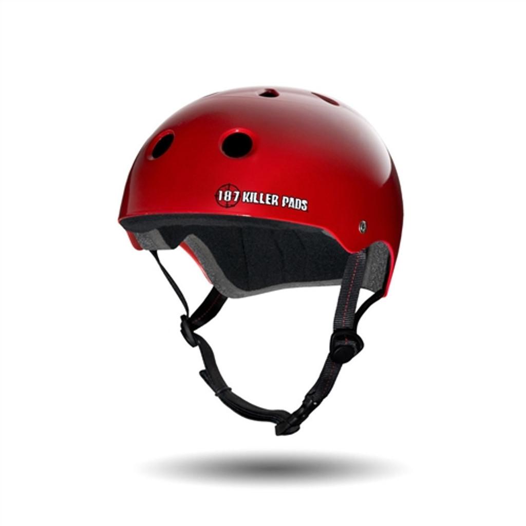 187 Pro Skate Red Gloss Helmet