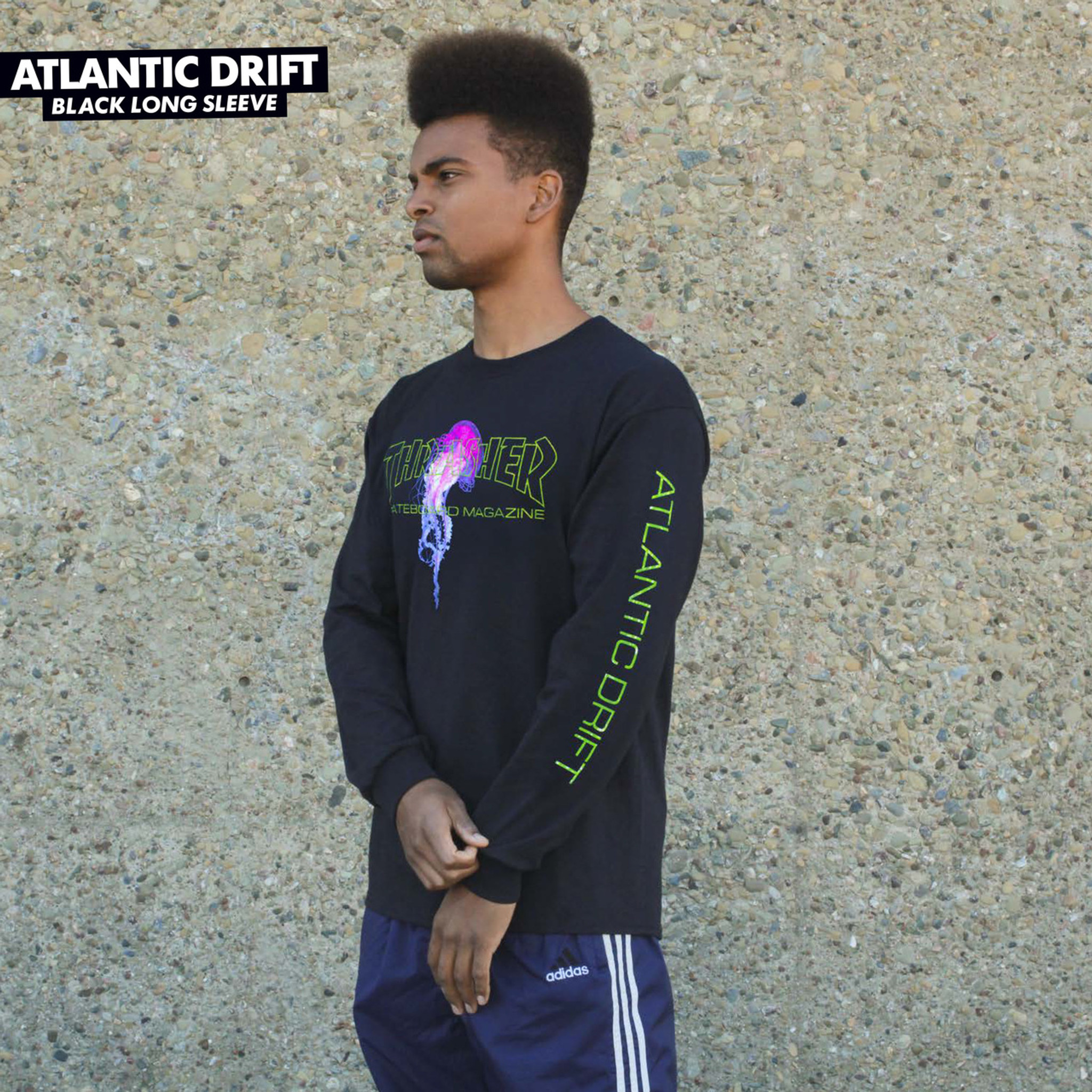 48cd467073ab Thrasher Skate Mag Atlantic Drift Long Sleeve Shirt Black
