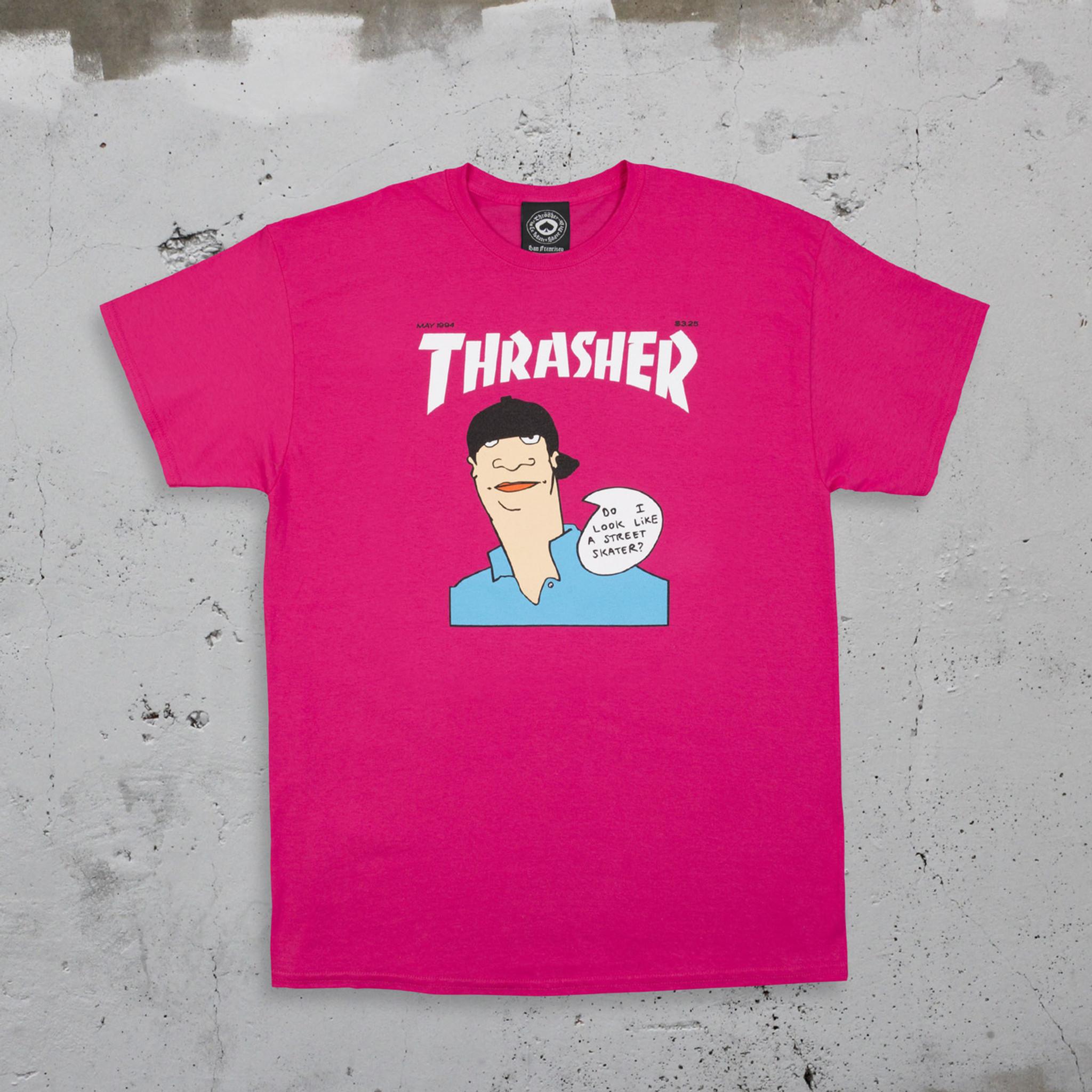 91446a7607fd Thrasher Magazine Gonz Cover T-Shirt Pink